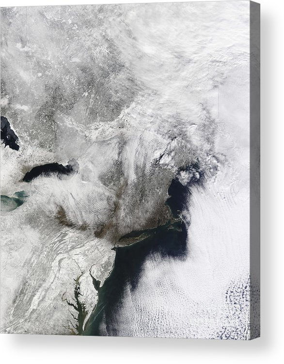 Snowmageddon Acrylic Print featuring the photograph A Severe Winter Storm by Stocktrek Images