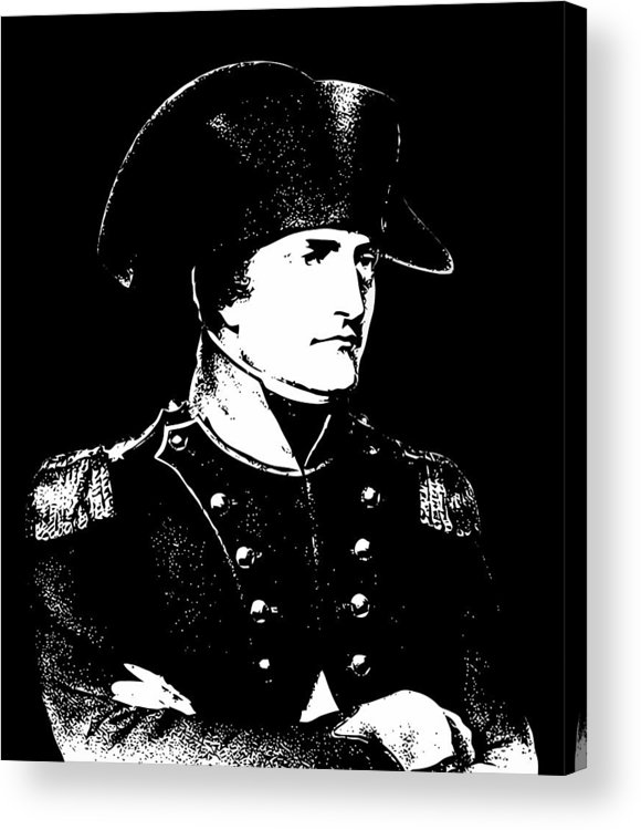 Napoleon Acrylic Print featuring the digital art Napoleon Bonaparte by War Is Hell Store