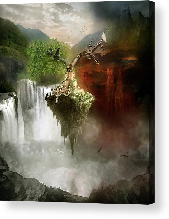 Good Acrylic Print featuring the digital art The Choice by Mary Hood