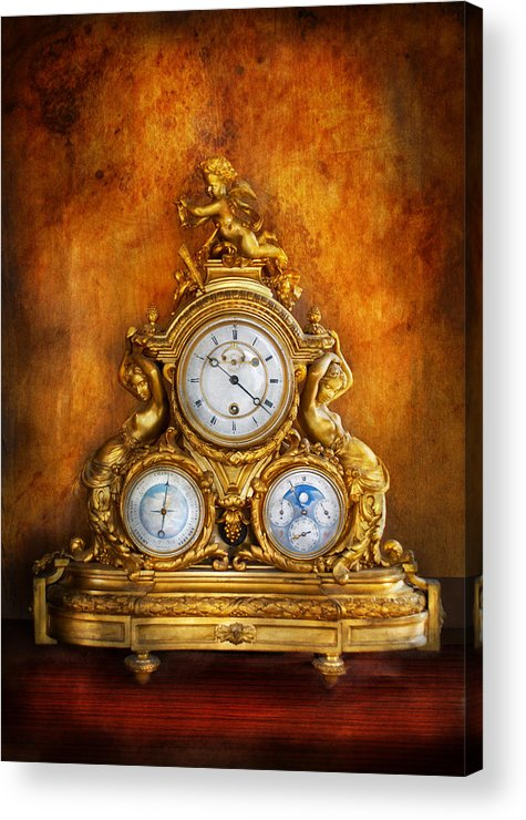 Clockmaker Acrylic Print featuring the photograph Clockmaker - Anyone Have The Time by Mike Savad