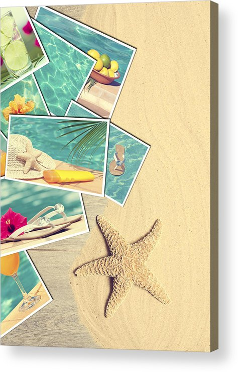 Sand Acrylic Print featuring the photograph Holiday Postcards by Amanda And Christopher Elwell