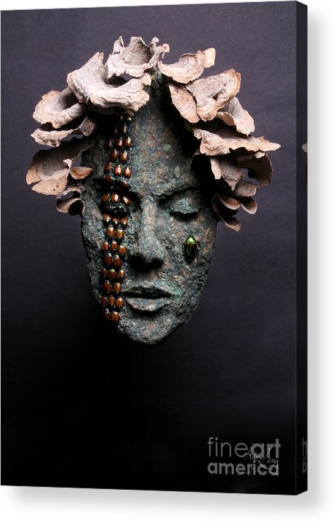 Art Acrylic Print featuring the relief Lorelei by Adam Long