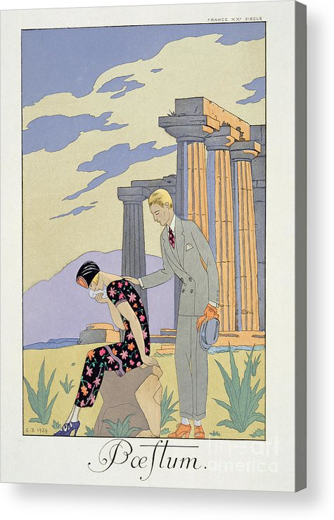 Crying Acrylic Print featuring the painting Paestum by Georges Barbier