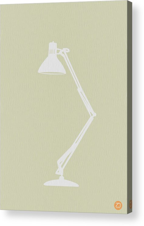 Lamp Acrylic Print featuring the drawing Desk Lamp by Naxart Studio