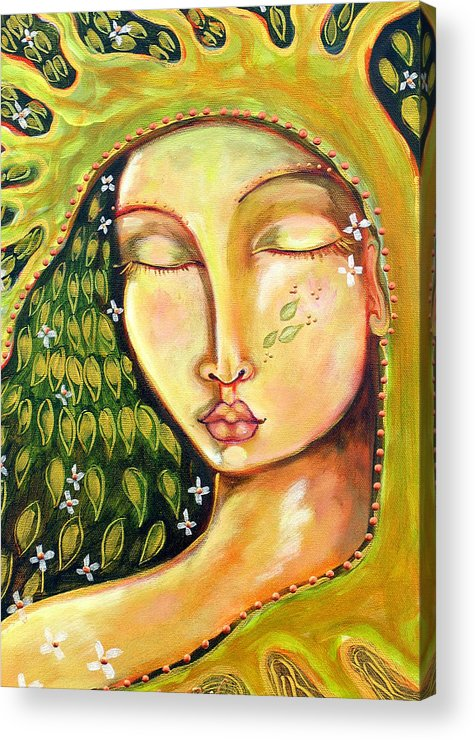 Tree Of Life Acrylic Print featuring the painting New Life by Shiloh Sophia McCloud