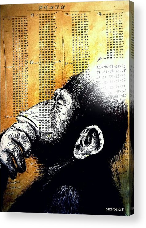 Operations Of Thought Acrylic Print featuring the digital art Reasoning Logical Mathematical by Paulo Zerbato