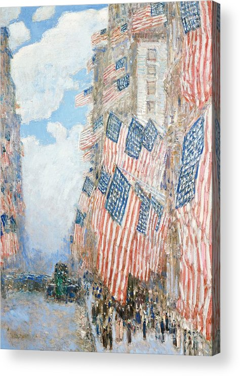 N Acrylic Print featuring the painting The Fourth Of July by Childe Hassam
