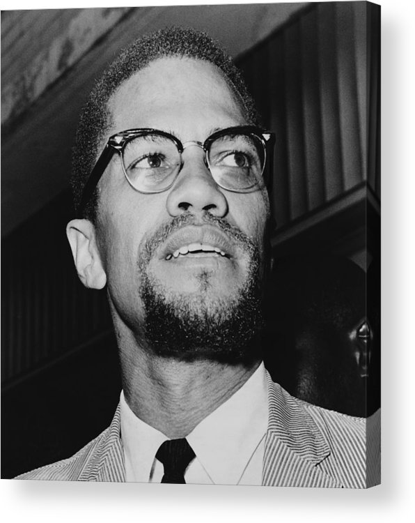 History Acrylic Print featuring the photograph Malcolm X 1925-1965 In 1964, The Year by Everett