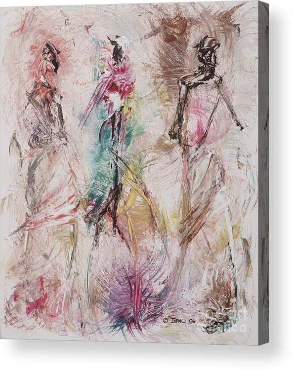 Abstract Acrylic Print featuring the painting Untitled by Ikahl Beckford
