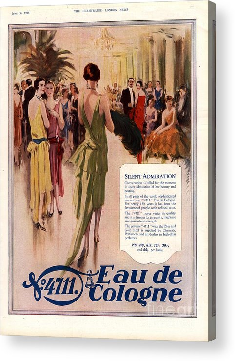 1920�s Acrylic Print featuring the drawing 1928 1920s Uk 4711 Eau De Cologne by The Advertising Archives