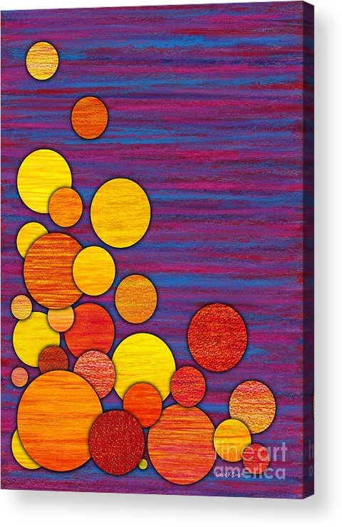 Colored Pencil Acrylic Print featuring the painting Accumulation by David K Small