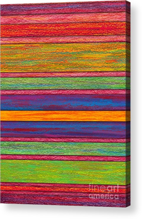 Colored Pencil Acrylic Print featuring the painting Contrast by David K Small