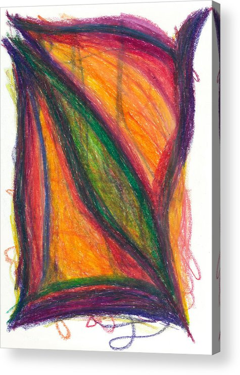 Oil Acrylic Print featuring the drawing Divine Love by Daina White