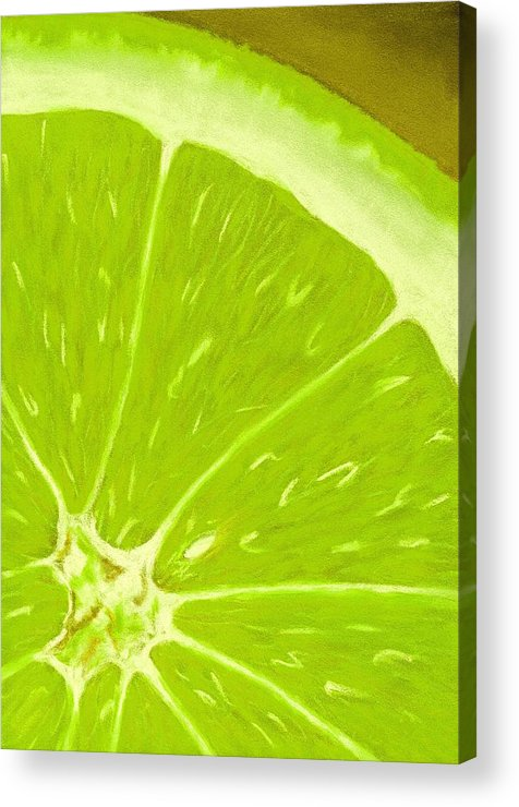 Malakhova Acrylic Print featuring the painting Lime by Anastasiya Malakhova