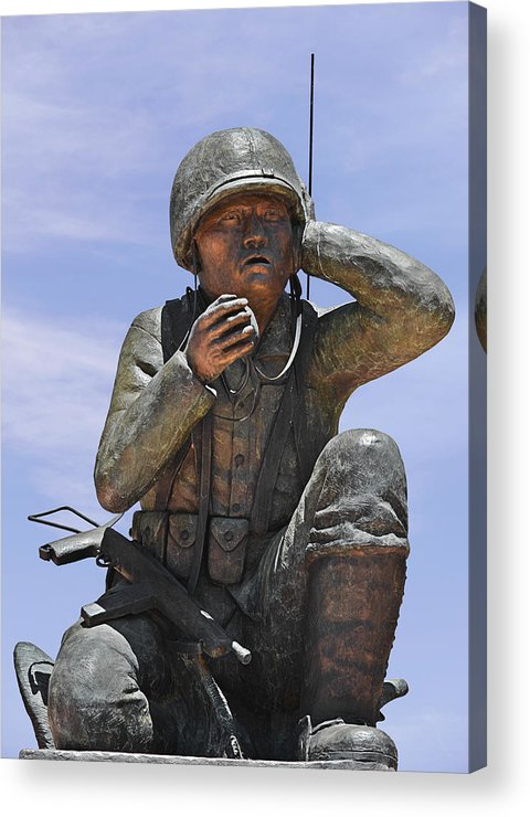 Navajo Acrylic Print featuring the photograph Navajo Code Talkers - Navajo People by Christine Till
