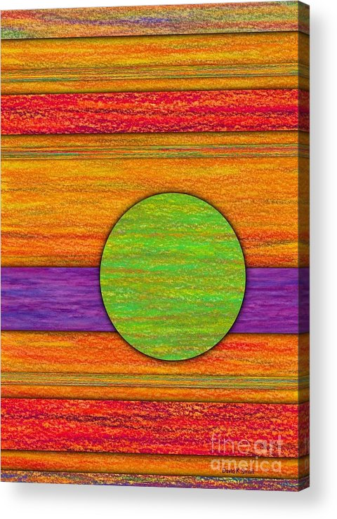 Colored Pencil Acrylic Print featuring the painting One Appeared by David K Small