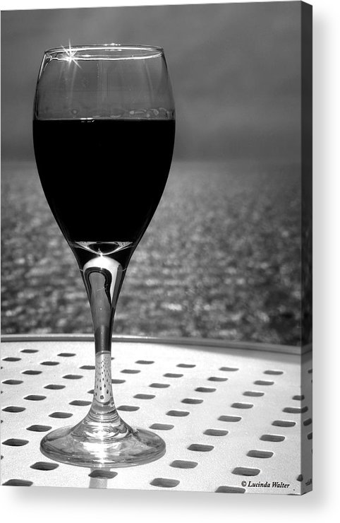 Wine Acrylic Print featuring the photograph Time To Relax by Lucinda Walter