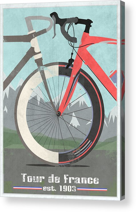 France Acrylic Print featuring the digital art Tour De France Bicycle by Andy Scullion