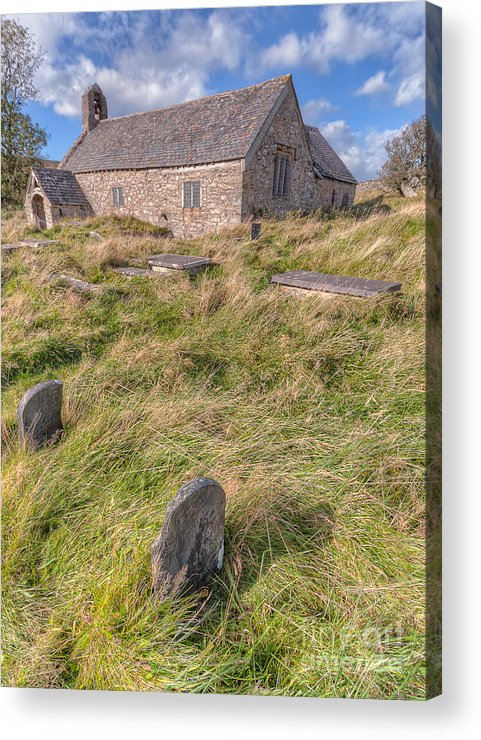Architecture Acrylic Print featuring the photograph Welsh Tombs by Adrian Evans