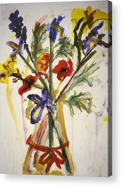 Fine Art Acrylic Print featuring the painting Untitled by Iris Gill