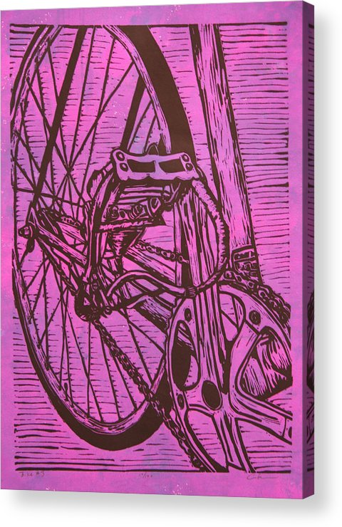 Bike Acrylic Print featuring the drawing Bike 3 by William Cauthern