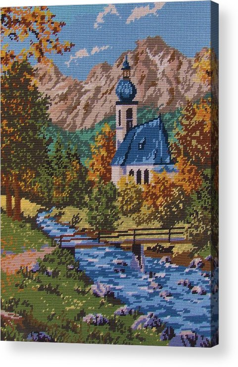 Bavarian Acrylic Print featuring the tapestry - textile Bavarian Country by M and L Creations Craft Boutique