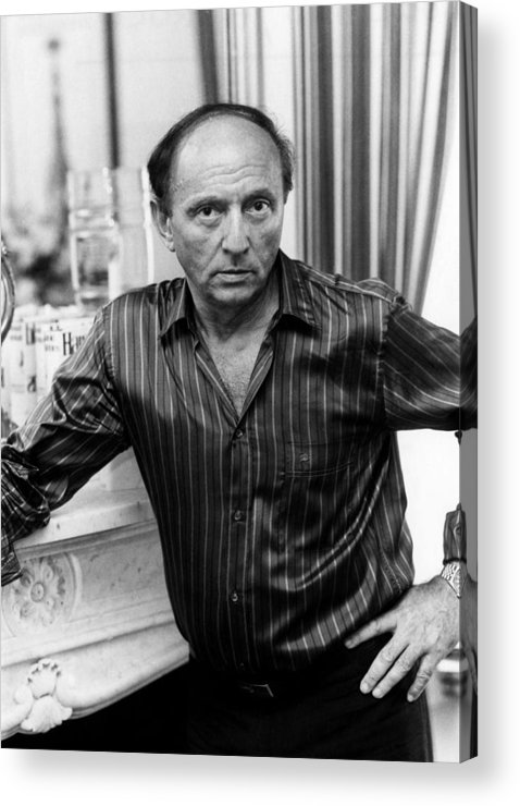 1980s Portraits Acrylic Print featuring the photograph Harold Robbins 1916-1997, American by Everett