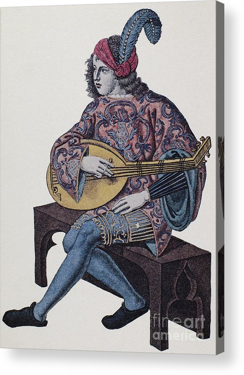 1839 Acrylic Print featuring the photograph Lute Player, 1839 by Granger