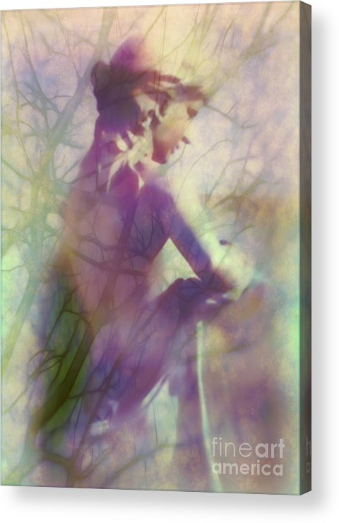 Statue Acrylic Print featuring the photograph Statue In The Garden by Judi Bagwell