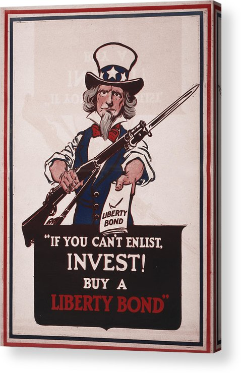 1910s Acrylic Print featuring the photograph World War I, Poster Showing Uncle Sam by Everett