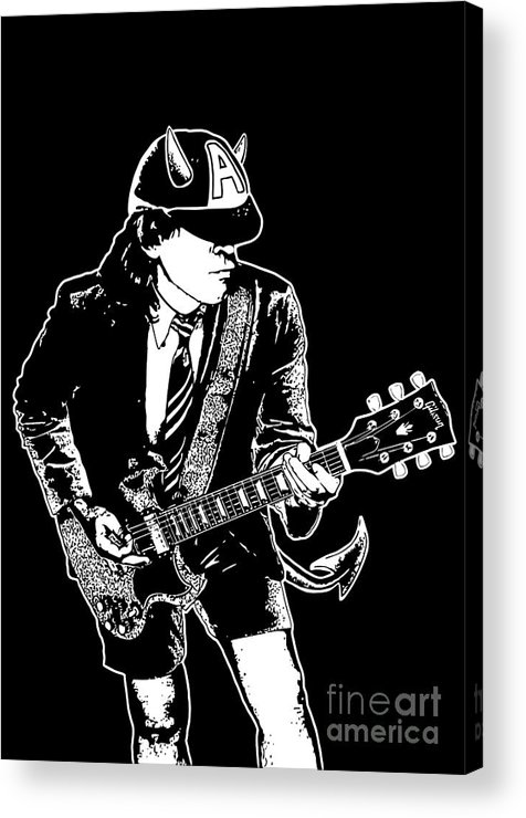 Artwork Acrylic Print featuring the digital art Acdc No.03 by Unknow