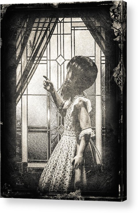 Little Miss Muffet Acrylic Print featuring the photograph Along Came A Spider by Bob Orsillo
