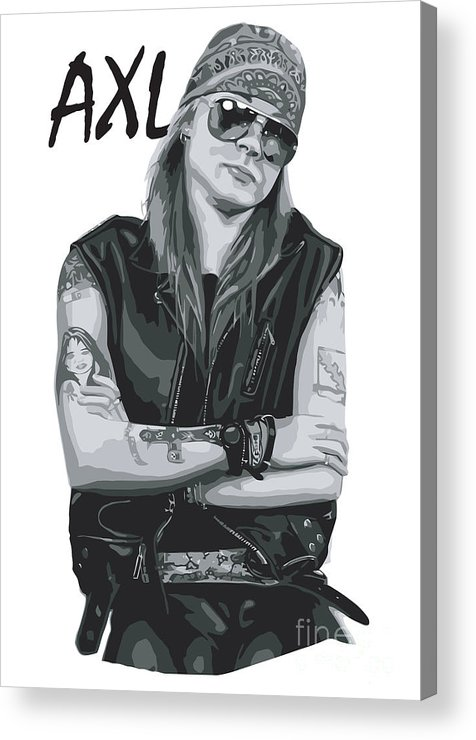 Axl Rose Acrylic Print featuring the digital art Axl Rose by Unknow