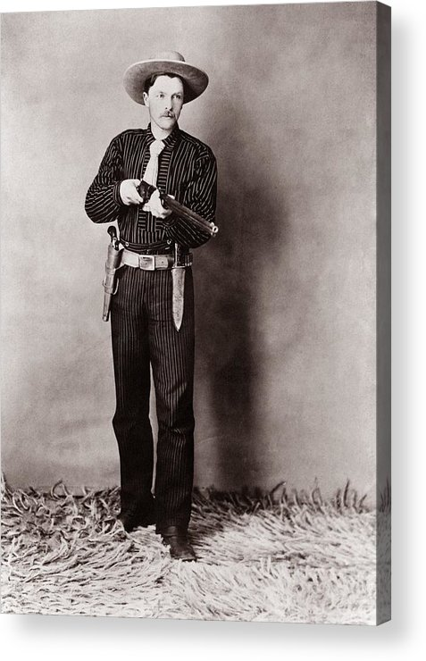 History Acrylic Print featuring the photograph Bill Bennett, Wild West Detective by Everett