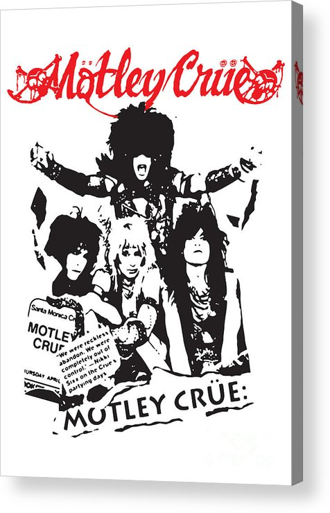 Motley Crue Acrylic Print featuring the digital art Motley Crue No.01 by Caio Caldas