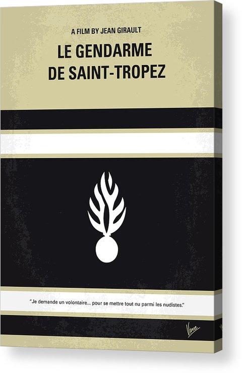 Le Acrylic Print featuring the digital art No186 My Le Gendarme De Saint-tropez Minimal Movie Poster by Chungkong Art