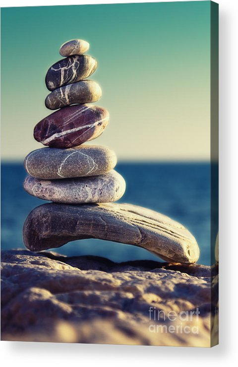 Arrangement Acrylic Print featuring the photograph Rock Energy by Stelios Kleanthous