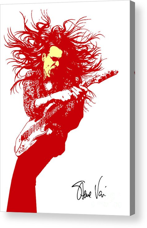 Steve Vai Acrylic Print featuring the digital art Steve Vai No.01 by Caio Caldas