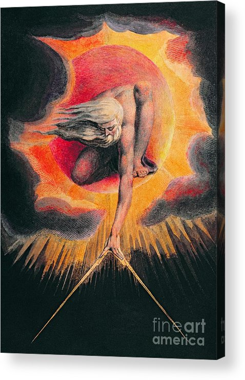 The Acrylic Print featuring the painting The Ancient Of Days by William Blake