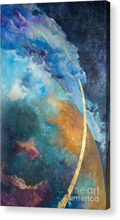 Sky Acrylic Print featuring the painting Constellations by Cheryl Myrbo