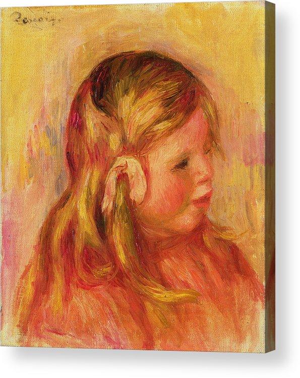 Portrait Acrylic Print featuring the painting Claude Renoir by Pierre Auguste Renoir
