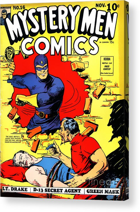 Classic Comic Book Cover Prints : Classic comic book cover mystery men comics