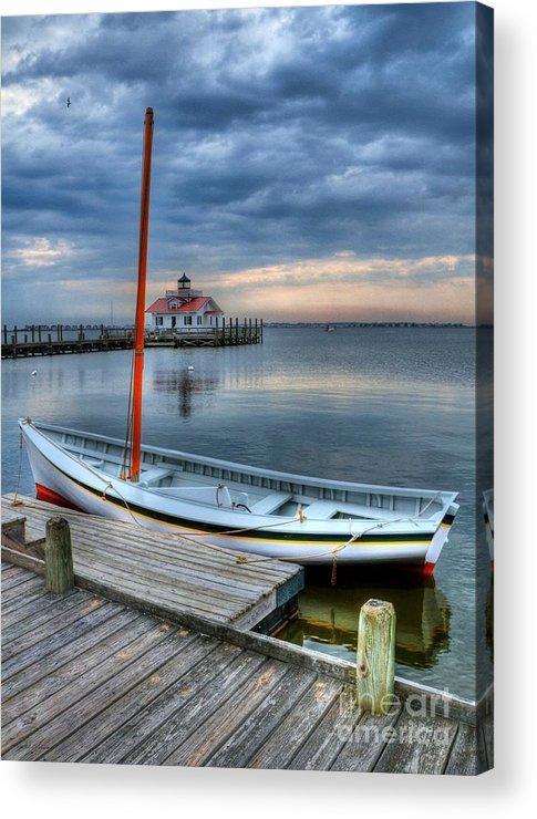 Boats Acrylic Print featuring the photograph Manteo Waterfront 2 by Mel Steinhauer