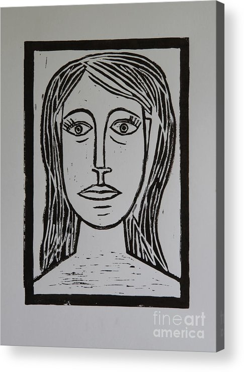 Portrait Acrylic Print featuring the mixed media Portrait A La Picasso by Christiane Schulze Art And Photography