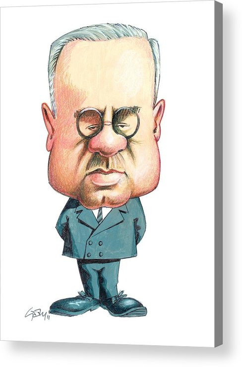 Alfred Adler Acrylic Print featuring the photograph Alfred Adler, Austrian Psychiatrist by Gary Brown