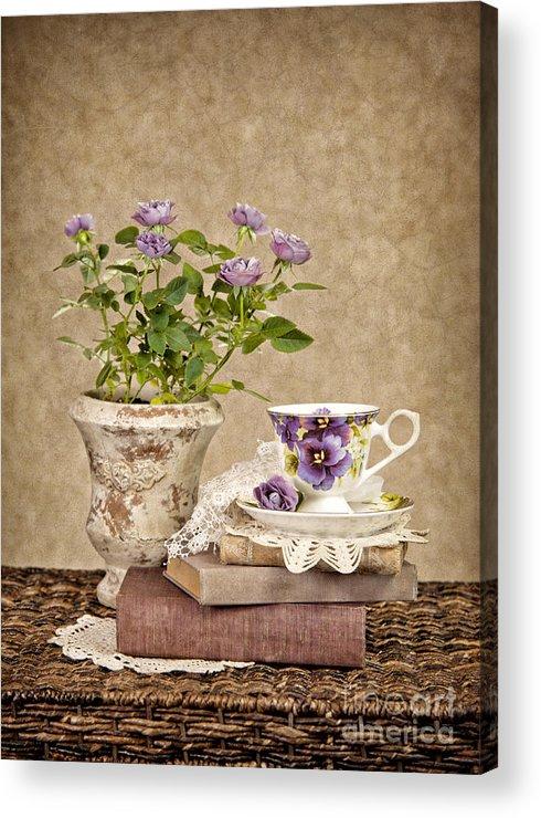 Teacup Acrylic Print featuring the photograph Simple Pleasures by Cheryl Davis