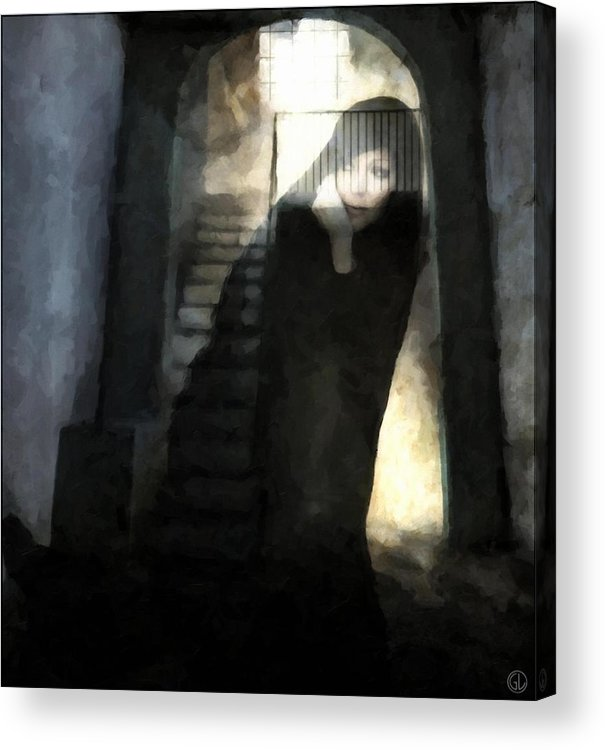 Woman Acrylic Print featuring the digital art Visitor From Long Ago by Gun Legler