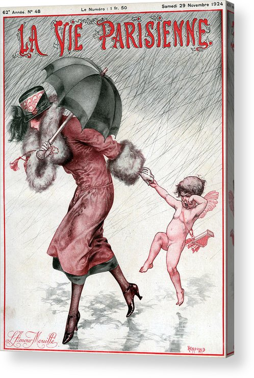 French Acrylic Print featuring the drawing La Vie Parisienne 1924 1920s France by The Advertising Archives