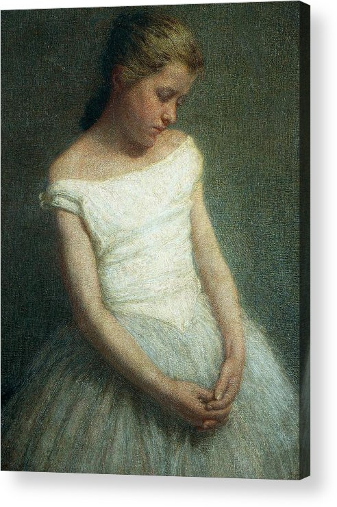 Painting; 19th Century Painting; 20th Century; Europe; Italy; Morbelli Angelo; Dancer (female); Glance; Post-impressionism Acrylic Print featuring the painting Ballerina Female Dancer by Angelo Morbelli
