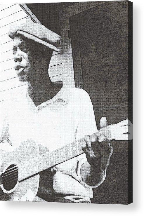 Guitar Acrylic Print featuring the photograph Bill Tatnall 1935 by Daniel Hagerman